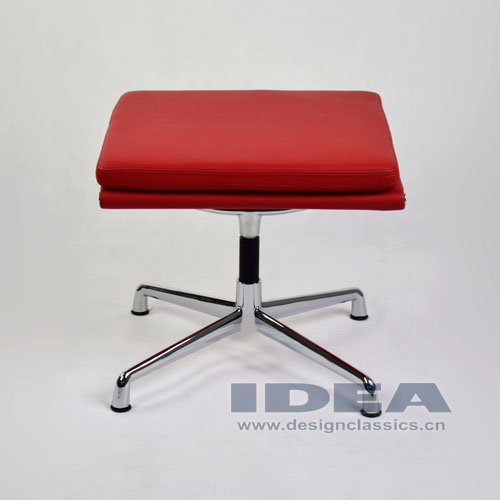 Eames Management Ottoman Red Leather